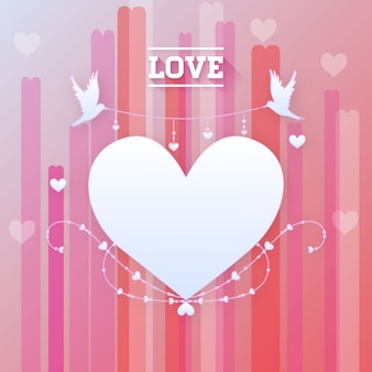 Valentine's Day Romantic Love Heart Vector Illustration