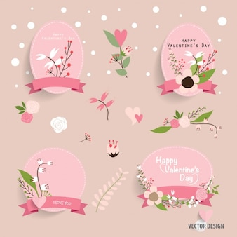Valentine's labels collection