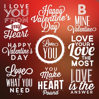 Valentine's lettering designs collection