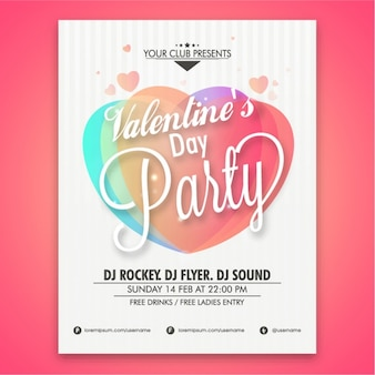 Valentine's party poster design