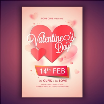 Valentine's party poster design
