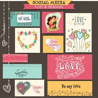 Valentine's stationery design