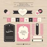 Valentine scrapbooking elements