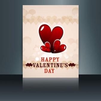 Valentines card in vintage style