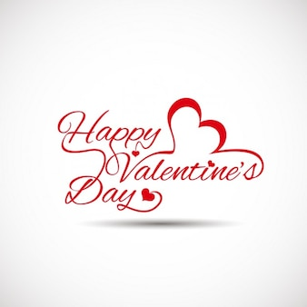 Valentines card with white background