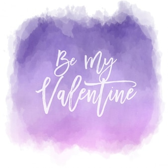 Valentines Day background with watercolor effect