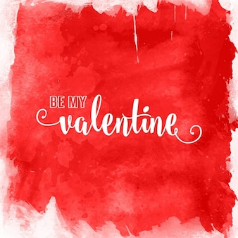 Valentines Day background with watercolour design