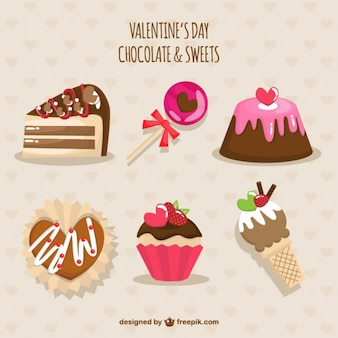 Valentines day chocolate and sweets