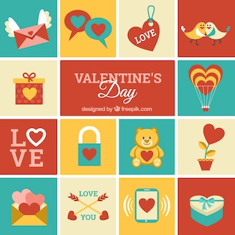 Valentines day icons pack
