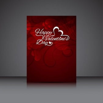 Valentines day red color card