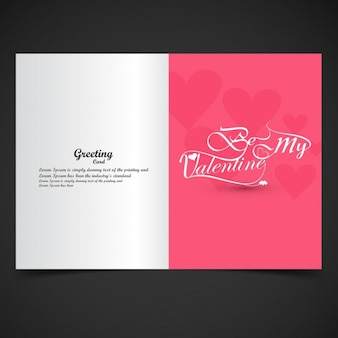 valentines greeting card in color pink