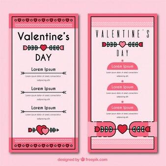 Valentines menu template in vintage style