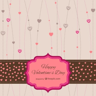 Valentines stationery card
