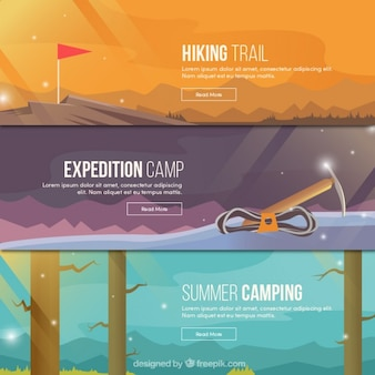 Variety of adventure banners