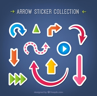 Variety of arrow stickers