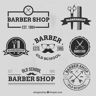 Baber店のロゴの様々な