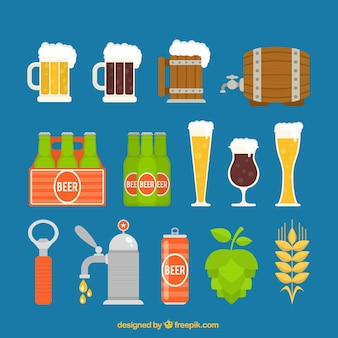 variety of beer elements
