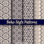 Variety of boho patterns with beautiful designs