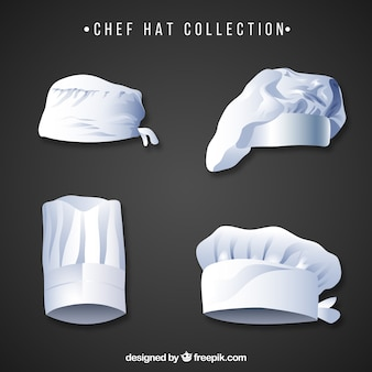 Variety of chef's hats