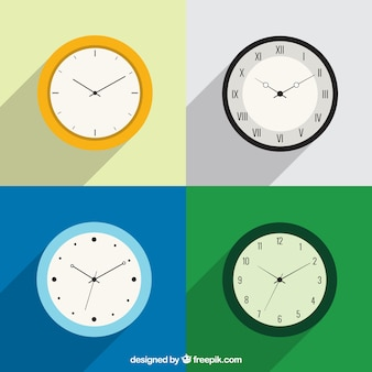 Variety of clocks