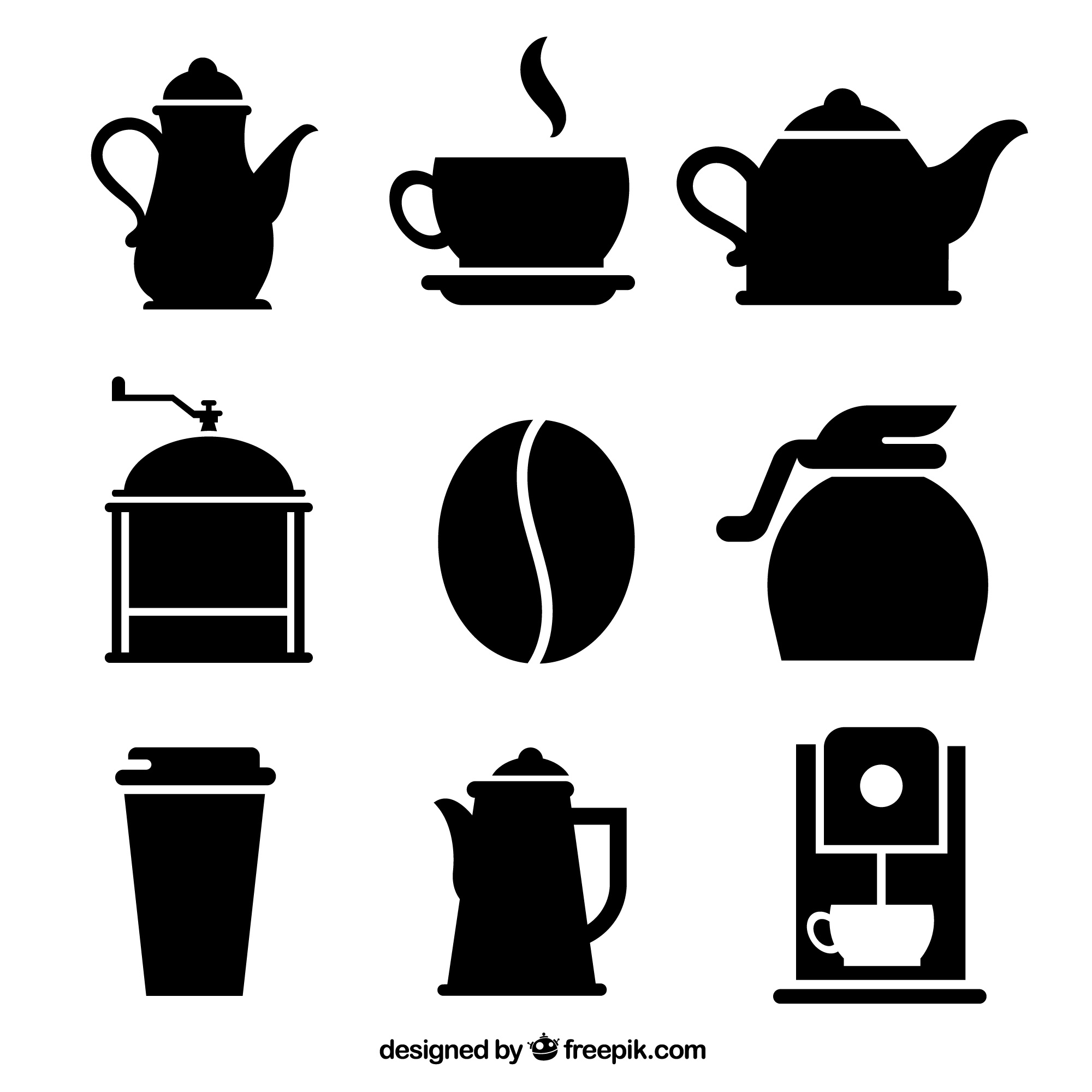 Variety of coffee icons