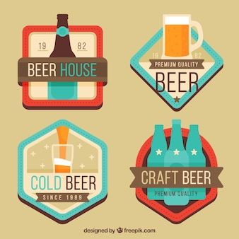 Variety of colored beer stickers