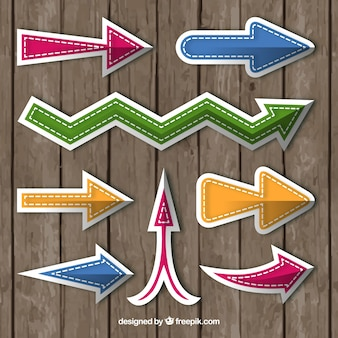 Variety of colorful arrow stickers