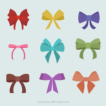 Variety of colorful bows