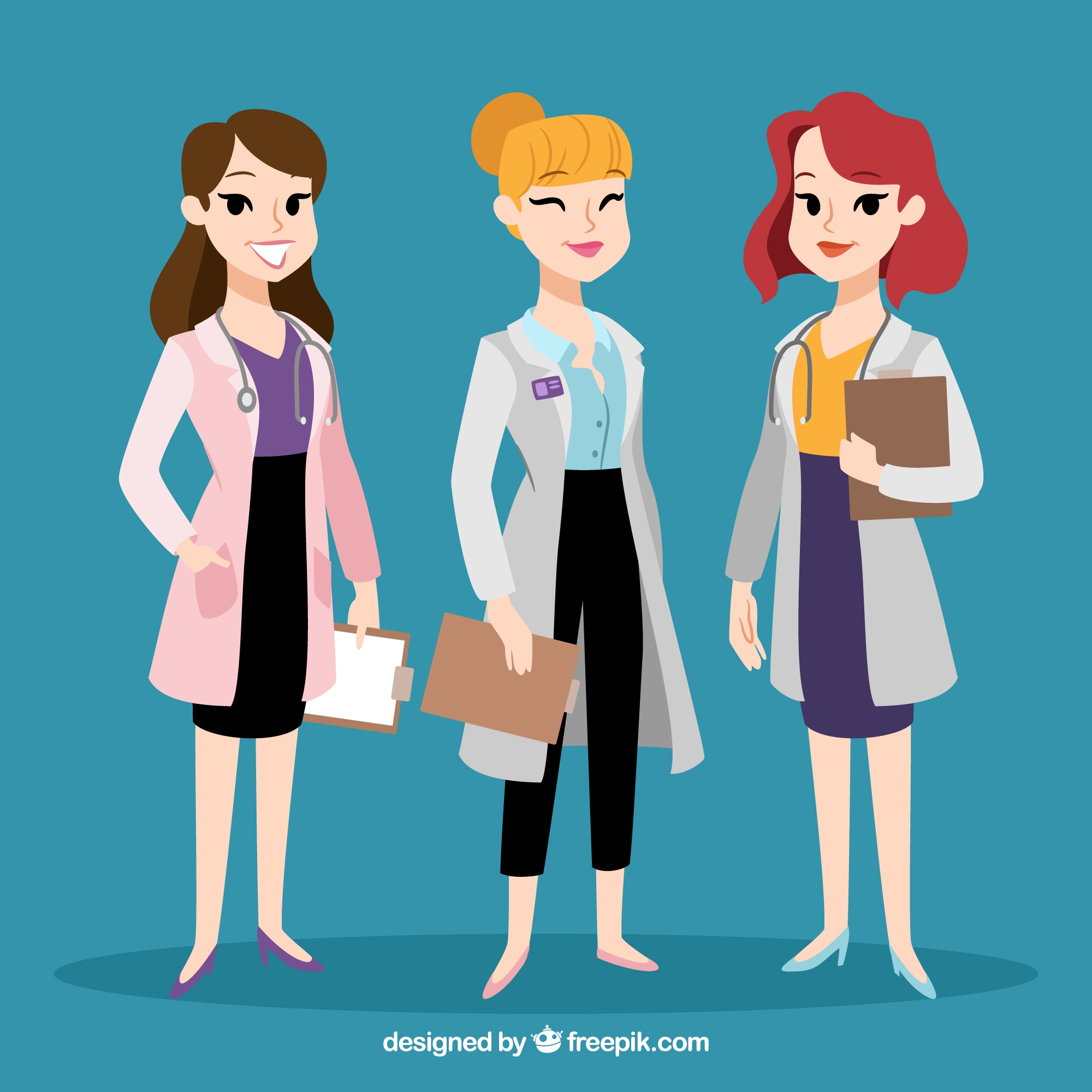 Variety of cool female doctors