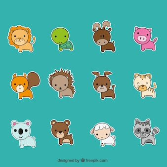 Variety of cute animals