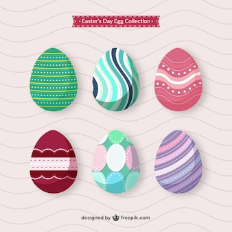 Variety of Easter's egg