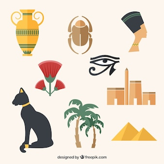 variety of egyptian culture elements