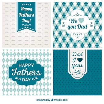 Variety of fathers day cards