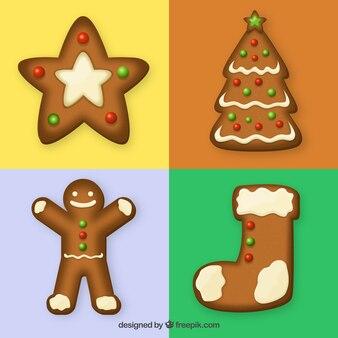 Variety of gingerbread cookies