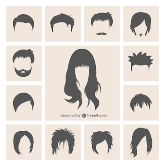 Variety of hairstyles