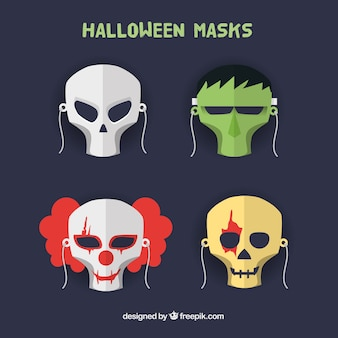Variety of halloween masks
