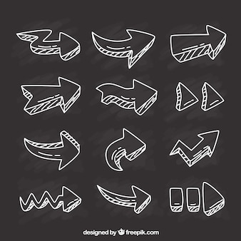 Variety of hand drawn arrows