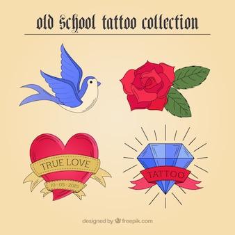 Variety of hand drawn artistic tattoos