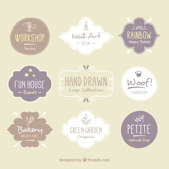 Variety of hand-drawn logos