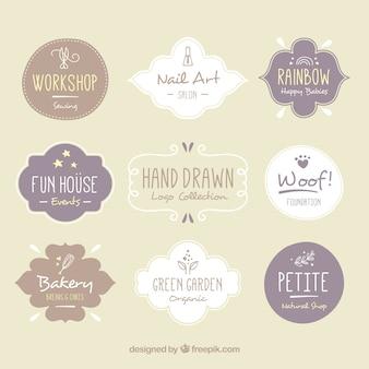 Variety of hand-drawn logos