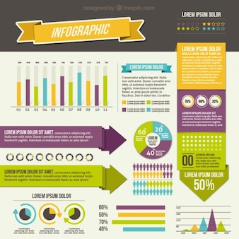 Variety of infographic elements