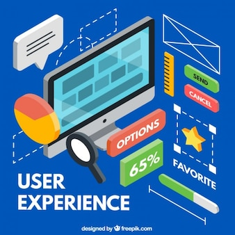 Variety of isometric user experience elements