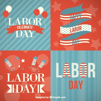 Variety of labor day cards
