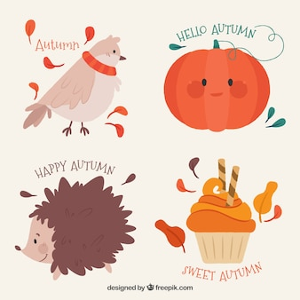Variety of lovely autumn labels