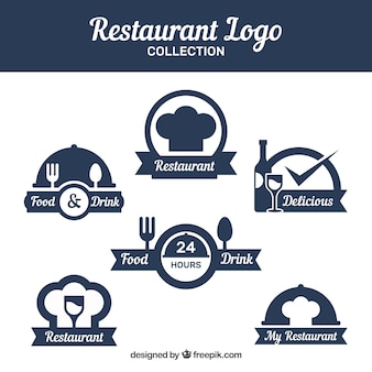 Variety of minimalist restaurant logos