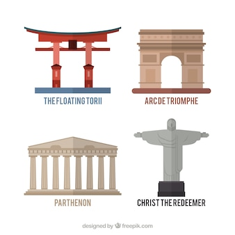 Variety of monuments