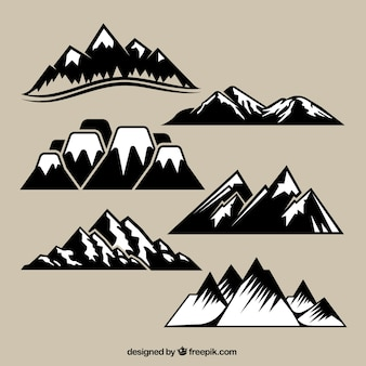 Variety of mountain range