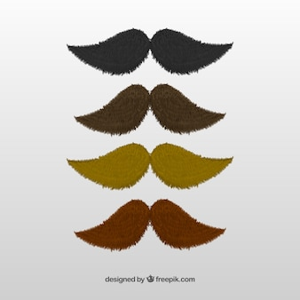 Variety of moustaches