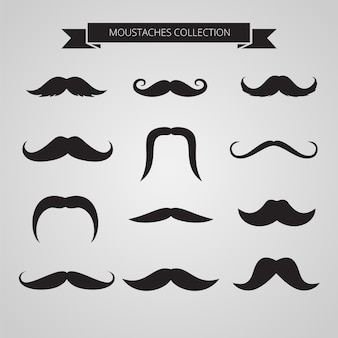 Variety of movember moustaches