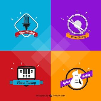 音楽のロゴのバラエティ